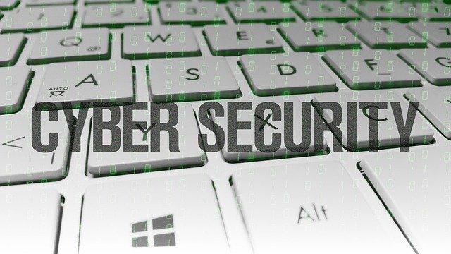 Cyber Security on Keyboard