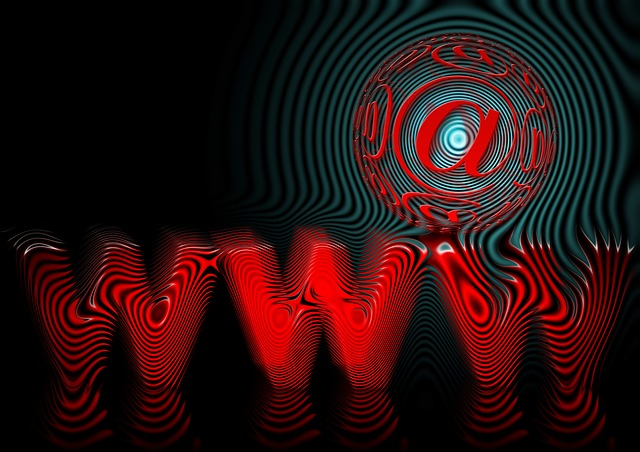 World Wide Web in red